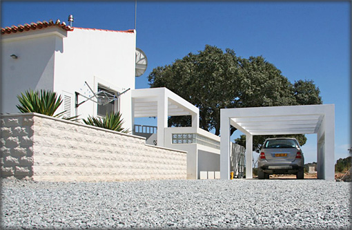 Villa Side Entrance & Carport