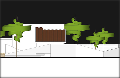 Villa Plans - Eest Elevation