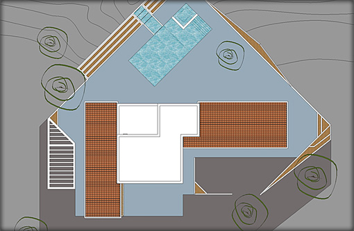 Villa Plans - Top Elevation