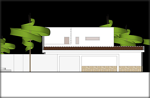 Villa Plans - West Elevation